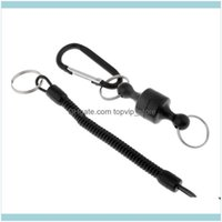 Sports Outdoorssteel Wire Fishing Coiled Lanyard W  Magnetic Net Release & Buckle Aessories Drop Delivery 2021 Aew2U