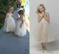 Encaje una línea tullle longitud bebé niña fiestas de cumpleaños princesa princesa niños niños niña vestidos de fiesta niña vestido vestidos de la comunión