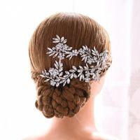Kosnatten Luxus Kristall Bridal Tiara Handgemachte Hochzeit Kopfschmuck Strass Hochzeit Haarschmuck Stirnband Haarschmuck