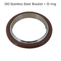 Bride à bride sous vide ISO 304 Support en acier inoxydable + Bague d'étanchéité Type de fluor O pour ISO63 ISO80 ISO100 ISO16 ISO160 ISO200 ISO250 ISO250