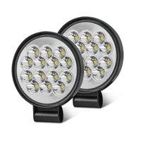 Working Light 48W Work Spot Headlight 14 LED Auto Car For Motorcycle Motorbike ATV Truck Offroad 12v 24V Night Driving SUV Fog Lamp