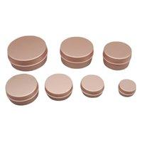 50PCS Rose Gold Screw Thread Empty Aluminum Cream Jar Tin Cosmetic Lip Balm Containers Nail Decor Crafts Pot Refillable Bottles