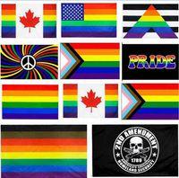 90x150 سنتيمتر فيلادلفيا الزخرفية مستقيم المحرز LGBT rainbow مثلي الجنس فخر العلم الولايات المتحدة الدستور 2nd التوصيل الثاني العلم WWA202
