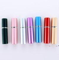 휴대용 병 5ml 알루미늄 양극 처리 된 컴팩트 향수 애프터 셰 이브 분무기 향수 유리 향기 병 스프레이 병 fwe9628