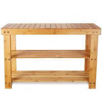 Bamboo Shoe Racks Bench Hallway Storage Rack 3 Tier Tidy Stand Organier Home Organizer Small Shelf for Bedroom Entryway
