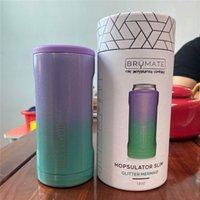 SLIM Thermoses en acier inoxydable à double paroi des thermes isolés peut refroidir de tasse pour 12 oz Slims Cups Thermos Cup (sirène paillettes) 157 S2