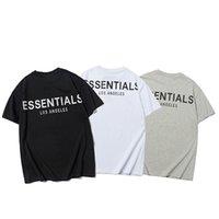 21SS FEG Essentials Medo de Deus Verão High Street Fashion Marca 3M Reflexivo t - shirts Homens Mulheres Contratadas Lazer de Alta Qualidade Camisetas