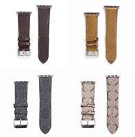 Fashion Designer Leather Strap for Apple Watch Band Series 6 5 4 3 2 40mm 44mm 38mm 42mm Bracelet iWatch Belt