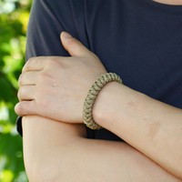 Bracelet de corde de chanvre tissé à la main Simple bracelets de bracelets de bracelet pour femmes hommes bijoux de mode et sableux