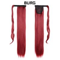 Unprocessed virgin raw indian hair clip in human ponytail extension for black