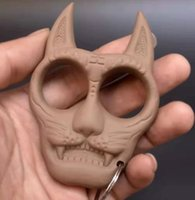 2021 Yeni Kaplan Kafası Anahtarlık Kaplan Kafası Plastik Çelik Parmak Kaplan Plastik Parmak Yüzük Mini Kız Öz Savunma Parmak Ring11