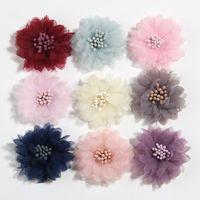 """10pcs 4cm 1,5 """"Fleur de tissu artificiel pour robe Mariage Bouquet Bouquet Bijoux Accessoires Broche Production Vêtements Making"""