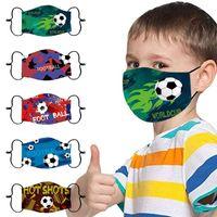 Football Print Masks for Kids Masque Enfant Adjustable Washable Mascarillas Halloween Cos Face Mask Mascaras H7gx
