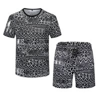 19SS 2-piece Joggers Mens Designer 2021 Fashion Tracksuits Sets Men Luxury Clothes Summer Running Suits T-Shirt Short Sleeve Sportswear Kits