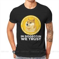 Men's T-Shirts We In Trust Hip Hop Tshirt Dogecoin Doge Crypto Virtual Currency Printing Tops Casual T Shirt Male Short Sleeve Gift Clothes