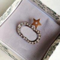 Spilla a forma di stella di modo Spilla con diamanti per Woamn Ottone di alta qualità 925 Pin argento Pin Spilla fornitura all'ingrosso NRJ