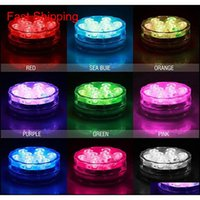 10 LED أضواء مقبض الغوص حوض السمك الملونة تحت الماء مضاد للماء تسليط الضوء عن التحكم عن بعد 7 co qylfwl dh_seller2010