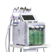 다기능 6 in 1 H2O2 작은 버블 머신 물 밀 피부 산소 얼굴 뷰티 스킨 케어 가정용 뷰티 악기 사용