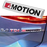 Car Fender 4 Motion Logo Sticker For Volkswagen VW Passat Jetta Arteon EOS Scirocco Atlas Trunk 4MOTION Badge Beetle Accessories