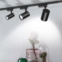 Track Lights LED Light 12 20 30 40W COB Rail Spotlight Lamp Aluminum Fixture Shop Window Display Lighting 220V
