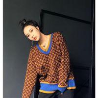 Мужские толстовки толстовки Осень и зимний свитер Свободные ленивые женские вязаные дна рубашки цвета соответствует жаккарду высокой шеи V-образным вырезом мы