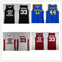 NCAA انخفاض ميريون 33 براينت جيرسي كلية الرجال الثانوية كرة السلة ملابس السلة hightower crenshaw 44 أحمر أبيض أسود أزرق مخيط 2021 بيع