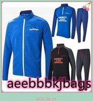 2021 Glasgow Rangers Futebol Tracksuit Camisetas Treinamento Casaco Azul Preto Longo Pant 2022 21 Conjunto Kits Futebol Camisas
