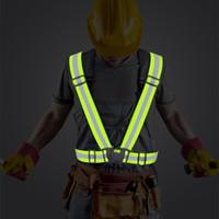 Highlight Reflektierende Riemen Nachtarbeitssicherheit Laufende Radweste High Sichtbarkeit Sicherheitsjacke