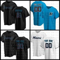 Miami 2021 New Marlins 16 Jose Fernández 22 Sandy Alcantara Baseball Jersey 15 Brian Anderson 25 Lewis Brinson 5 Jon Berti 42 Jackie Robinson 14 Martin Prado Orange