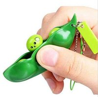 New Party Gifts Fidgety Peanut Peas Push Squeeze Toys Adult Children Stress Anxiety Relief Key Ring Wholesale