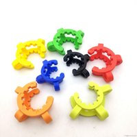 10mm 14mm 18mm Plastic Keck Clip for Glass Bong Adapter Downstem Water Pipes Manufacturer Laboratory Lab Clamp Colorful Clips Connect
