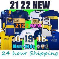 2021 2022 Boca Juniors Soccer Jerseys de Rossi Tevez Boca 21 22 Camiseta Carlitos Maradona Camisa para hombre Abila Boca JRS KITS Equipo para niños
