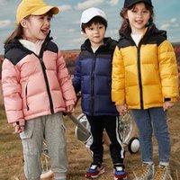 Designer North Child Casacos Reversíveis Pachos Branco Duck Down Jaquetas Meninos Meninas Crianças Outerwear Mount Hoodies Downs Casaco Overcoat