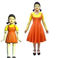 Apparel Dress Halloween Costume Squid Game123 Wooden Man Dresses Girls Dress Adult Costumes Cosplay Theme Costume Women Female Autumn