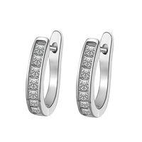 Hoop & Huggie Crystal Stud Earrings For Women Ear Jewelry Real Natural Ceramic Earring Wedding Engagement Accessories