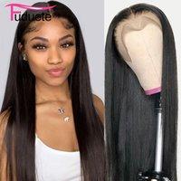 Spitze Perücken Fuduete 30 Zinch 13x4 gerade Front Perücke Brasilianisches Haar Remy 13x6 Menschliche natürliche Farbe