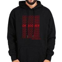 Men's Hoodies & Sweatshirts OK Boomer Black Gray Long Sleeve Velvet Warm Hooded Thick Sweatshirt Fashion Loose Casual Hoodie