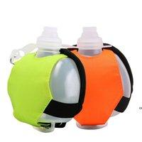 Mini Bottiglie d'acqua Bollitore da polso Bollitore in silicone Portatile da esterno in bicicletta Sport Coppa fluorescente Ginning Gym morbido DHF7474