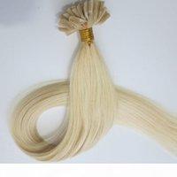 50G 50strands предварительно связанные гвозди u чаевые наращивания волос бразильские индийские человеческие волосы 18 20 22 24 дюйма # 60 платиновая блондинка индивидуальный цвет