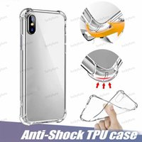 Мягкие TPU Clear Case для Galaxy S10 iPhone 11 PRO XR XS MAX Anti-Nate Huawei P20 Lite Прозрачная ударопрочная воздушная сумка Bumper Case