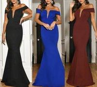 Robes de soirée Bourgogne 2021 avec sirène Moyen-Orient Robes De Formelle Gowns Party Fête Robe de promesse à l'épaule Plus Taille Vestidos de Festa