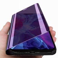 İPhone 12 Mini Durumda Akıllı Ayna Çevirme Telefon Kılıfları Için iPhone 12 Pro Max 12mini 12Pro 12max Manyetik Standı Kapak Coque