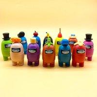Среди нас действие PVC Action Figures Модель Игрушки Компьютерные Настольные Куклы Установить Украшение автомобилей День рождения Подарки 2021