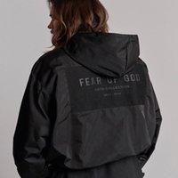 19SS FEAR BLACK HOGE POOT WOOT Улица с капюшоном Куртки мужчины Женщины повседневная мода хип-хоп 6-й простым из спортивных ветров куртка тумана SSGVO