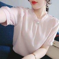 Women's Blouses & Shirts Short-sleeved Chiffon Shirt Summer 2021 Korean Blouse Loose Top Blusas Mujer De Moda