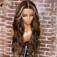 Lace Wigs Unextar Body Wave 13X4 Highlight Color Front Brazilian Remy Human Hair For Beautiful Women