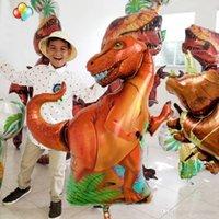 Jurásico Gigante Dinosaurio Foil Blowoon Boys Globos Animales Dinosaurios Fiesta Decoraciones de cumpleaños Helio Globos Niños Juguetes Regalo CALIENTE