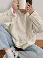 Women's Sweaters Korean Chic O-neck Women Sweater Grey Long Sleeve Pullover Autumn Winter Casual Pink Jumper Loose Pullovers Plus Size 3XL