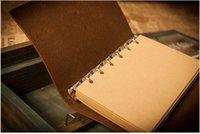 بو غطاء لفائف المفكرة كتاب لينة الدفاتر فارغة دفتر الرجعية ورقة السفر يوميات الكتب كرافت مجلة دوامة دفاتر القرطاسية DBC I LUQP2