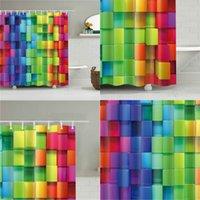 Plaid Muster Digitaldruck Duschvorhang Wasserdichte Duschvorhang Badezimmer Partition Querrand Brand Dusche Vorhanggewebe Drei 32Jahre S2